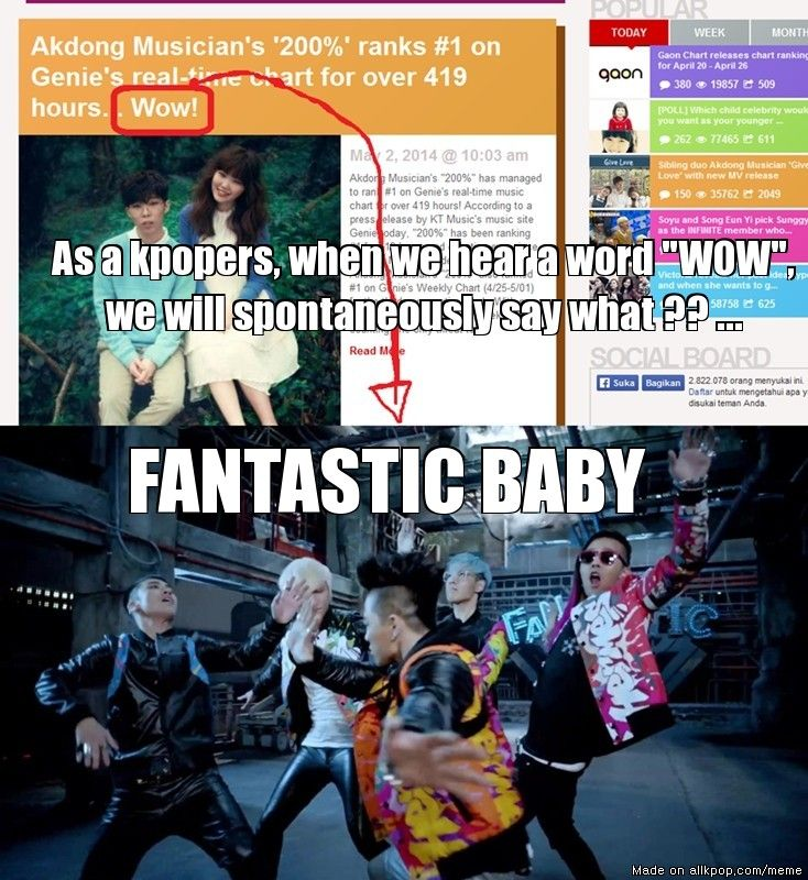 """yes xD 'Wow.' """"FANTASTIC BABY!"""""""