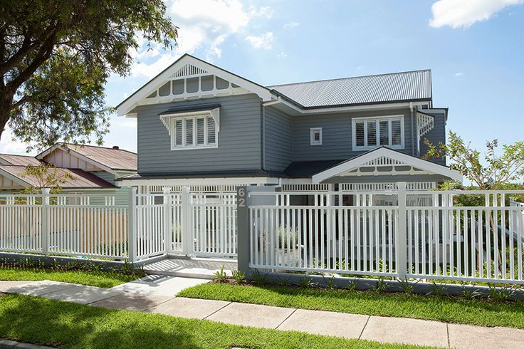 Where Old Meets New » Queensland Homes Blog | Can you tell this was once a one-storey, pre-war home? This home now takes on a modern, Hamptons-style feel – the perfect blend of old and new.