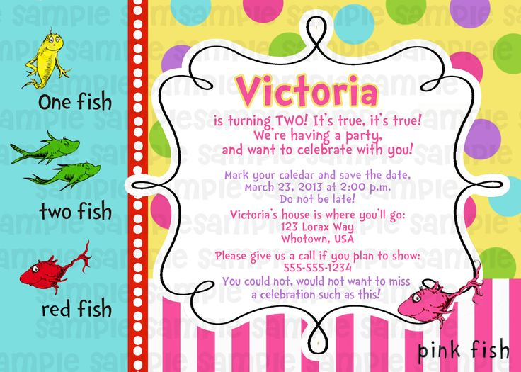 14 best dr suess invitations images on pinterest dr suess one dr suess one fish two fish pink baby shower invitation filmwisefo