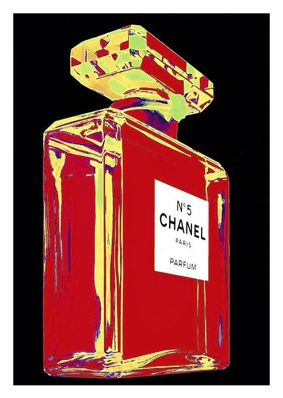 Chanel Vintage Poster, available at 45x32cm and 50x70. This poster is printed on matt coated 350 gram paper.  Also available on mat Blockmount on 50x70cm.