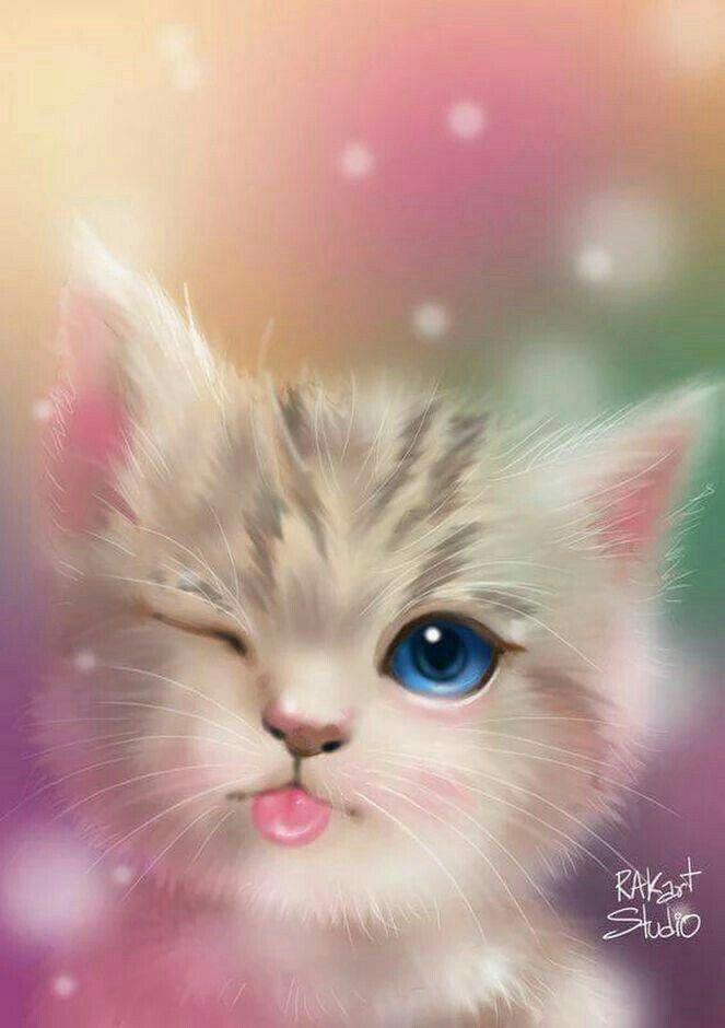 Pin By Paola Gianella On Fondos De Pantalla Cute Animals Cute Animal Drawings Cat Wallpaper
