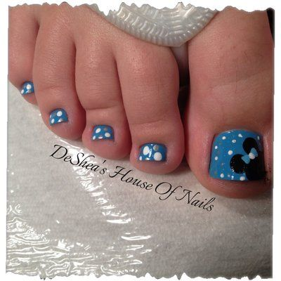 Disney toes  click to see lots of other Disney nail ideas! @angela