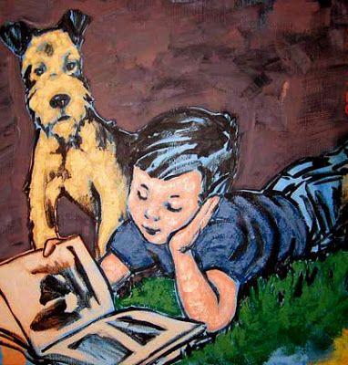 """David Bromley. Come and go with me, 2008"""" el mejor amigo del hombre y de la lectura..."""""""
