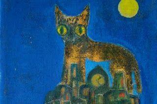 Alice Rahon, Nocturnal Cat, undated