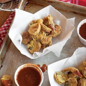 Cornmeal Crusted Fried Pickles Recipe