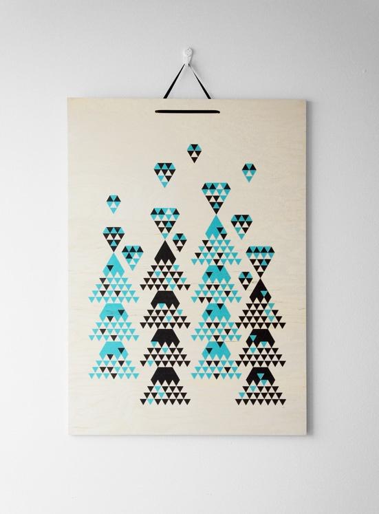 """My diamonds are in the forest"" Design by Kristiina Haapalainen & Sami Vähä-Aho 2010."