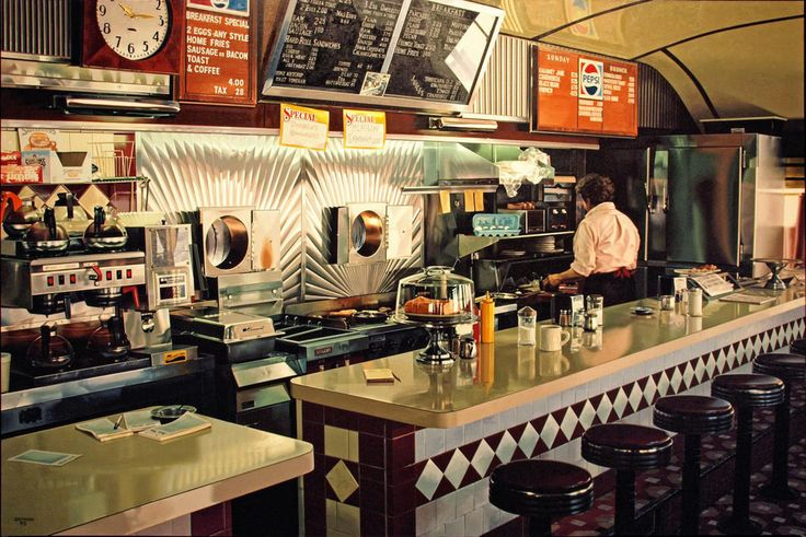 537 best diner interior photos images on pinterest soda fountain 1950s diner and cafes. Black Bedroom Furniture Sets. Home Design Ideas