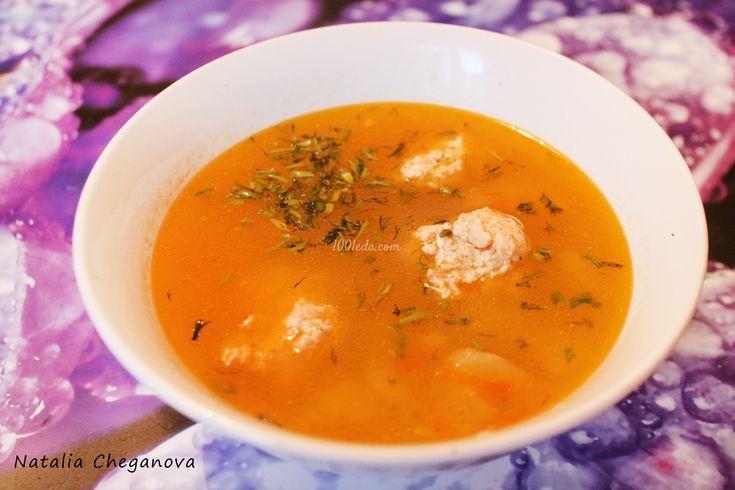 Необычный суп с фрикадельками в мультиварке