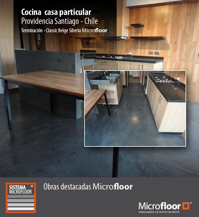 Cocina 2 - Pavimento revestimiento en microcemento Microfloor Línea Classic