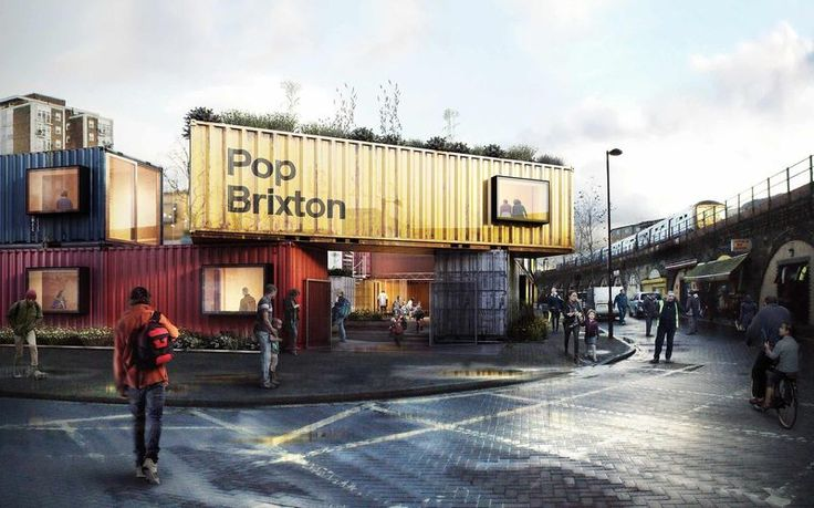 Shipping Container Campuses - Pop Brixton Aims to Bring A Sense of Community to the District (GALLERY)
