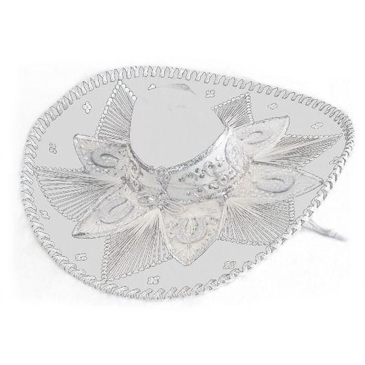 Cinco de Mayo Hats   Headwear White and Silver Mariachi Sombrero Image  44c66f2f6b3