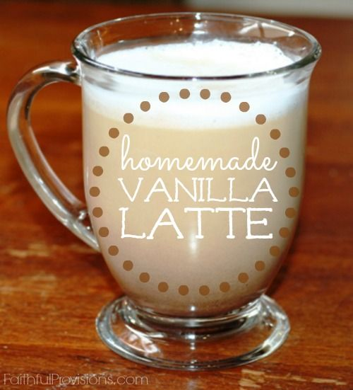Homemade Vanilla Latte Recipe. I have learned to improvise and a few kitchen tools have allowed me to make my very own Vanilla Latte at home. My favorite