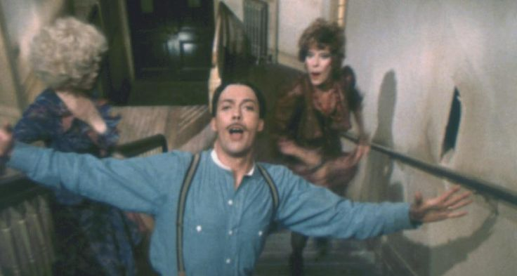 ANNIE, Bernadette Peters, Tim Curry, Carol Burnett, 1982  | Essential Film Stars, Tim Curry http://gay-themed-films.com/essential-film-stars-tim-curry/
