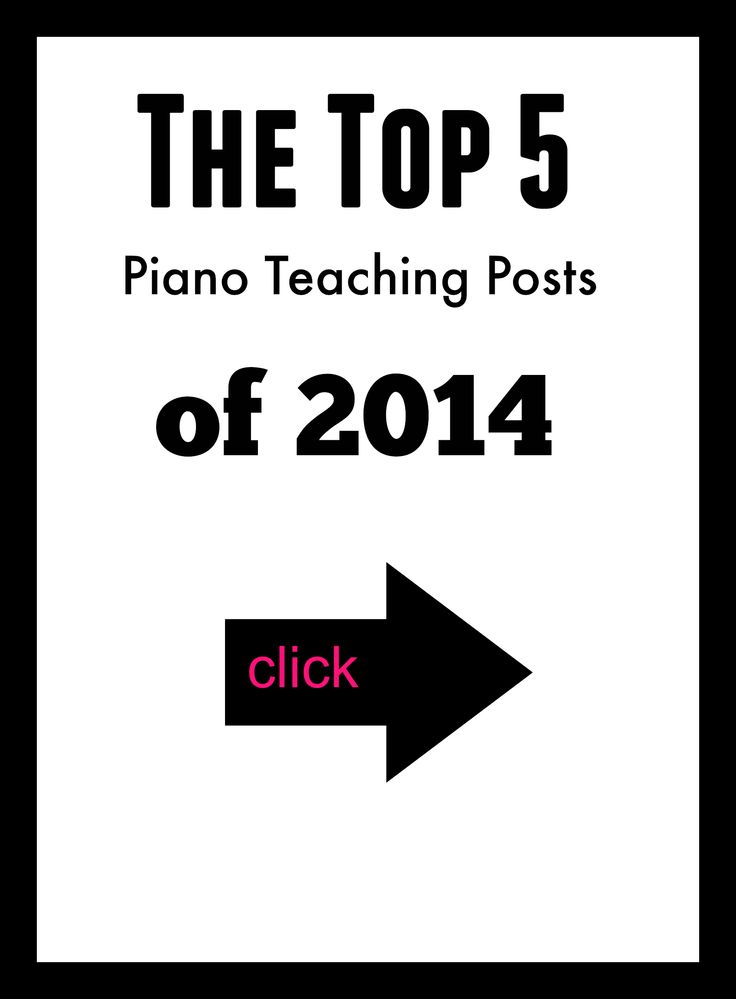 The most popular piano teaching posts of 2014 | www.teachpianotoday.com #pianolessons #pianoteaching