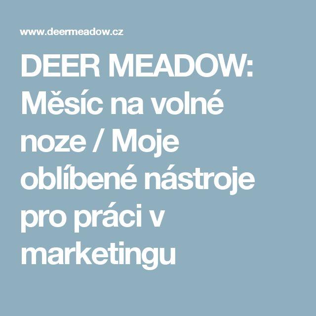 DEER MEADOW: Měsíc na volné noze / Moje oblíbené nástroje pro práci v marketingu