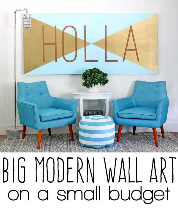 fun modern wall art DIY