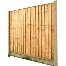 Feather Edge Fence Panel H 6' x W 6'