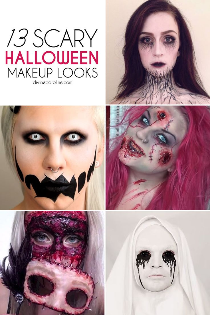 This year, retire your old princess costume and try one of these truly scary makeup looks we found. #halloween #makeup