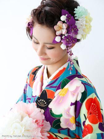 髪型 卒業袴髪型ミディアム : pinterest.com