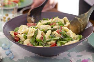 Salade de tortellinis primavera crémeuse