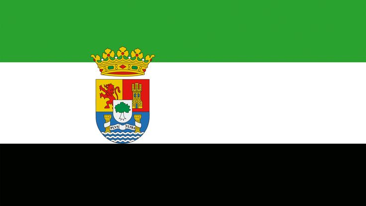 Los tres colores de la bandera de Extremadura