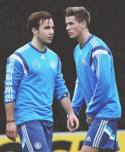 Mario Goetze and Erik Durm #GermanyNT