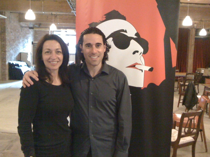 With Raindance Canada head Tiska (Frantiska) Widermann at the Open House event at Toronto's Centre for Social Innovation on March 21, 2012. http://raindancecanada.com | info@raindancecanada.com | 1-855-595-RAIN (7246).