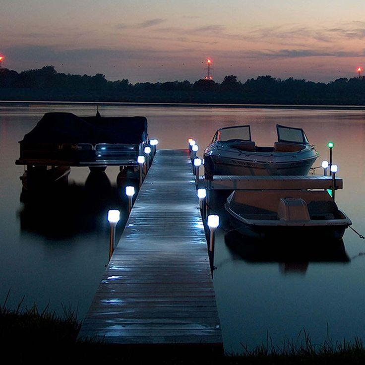Solar Dock Lights Outdoor Boat Dock Post Light Cabin