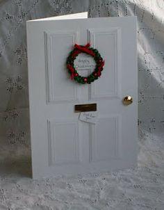 The Pinkshop Blog: Christmas Door Tutorial