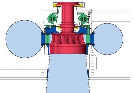 Francis turbine:  https://en.wikipedia.org/wiki/Francis_turbine suyun boşa akmasını önlemek için su arıtma makinelerindeki tasarruf mekanizması?