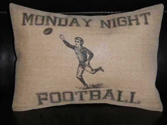 Hey, I found this really awesome Etsy listing at http://www.etsy.com/listing/154897378/vintage-monday-night-football-burlap