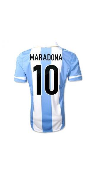 2014 FIFA World Cup Qualifiers Discount Thailand Quality 20122013 Argentina  MARADONA 10 Home argentina soccer jerseys c0277287d