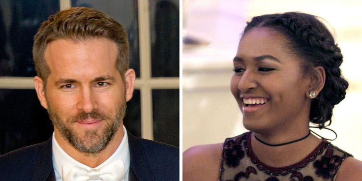 Here's What Happened When Sasha Obama Met Ryan Reynolds