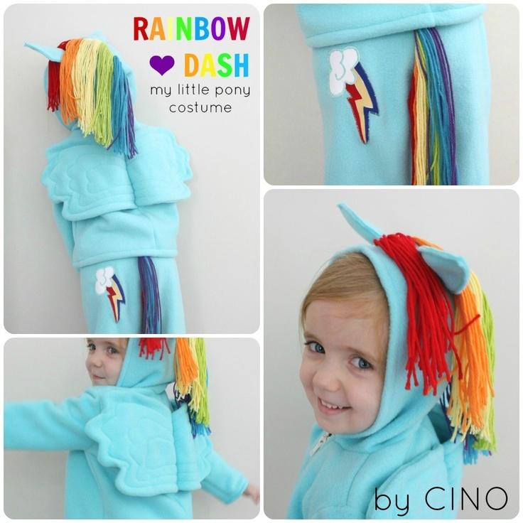 For next Halloween!  Rainbow Dash costume tutorial.