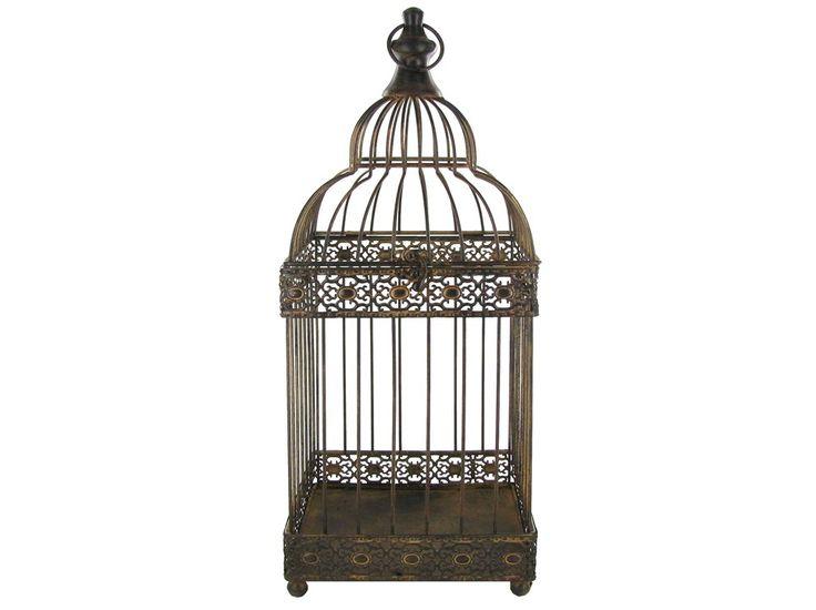 Brown Rustic Metal Bird Cage | Shop Hobby Lobby