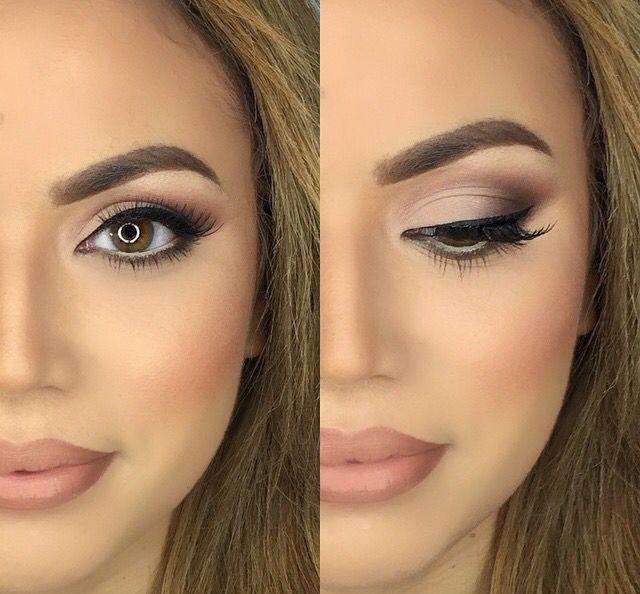 Simple and beautiful facial makeup.