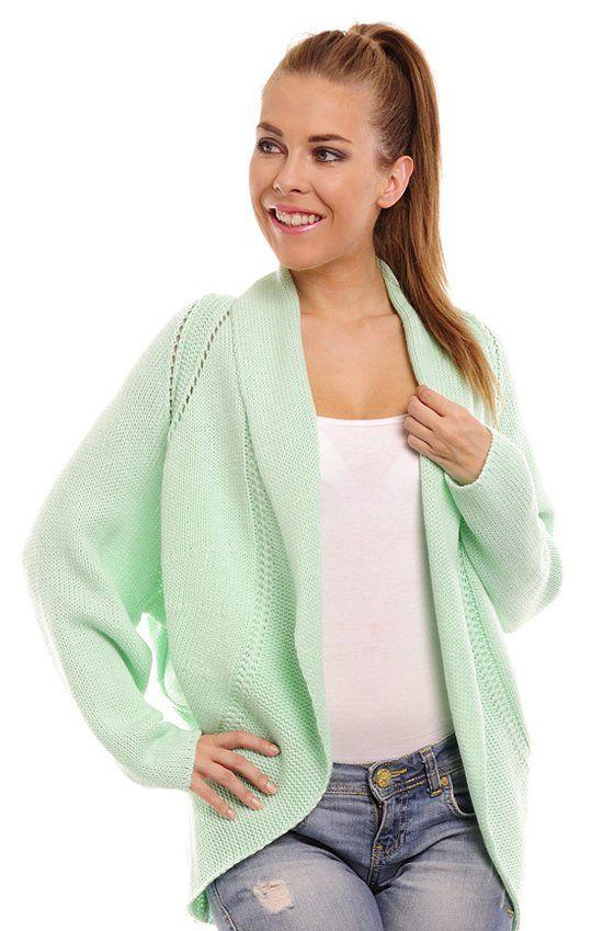 Lemoniade Layla sweter miętowy Ażurowa narzutka dostepna w bogatej palecie kolorów