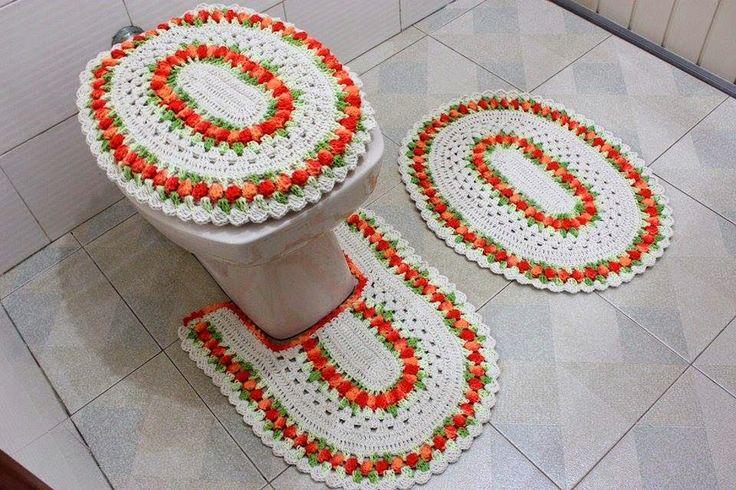 Juegos De Baño Regina:Más de 1000 imágenes sobre Crochê en Pinterest