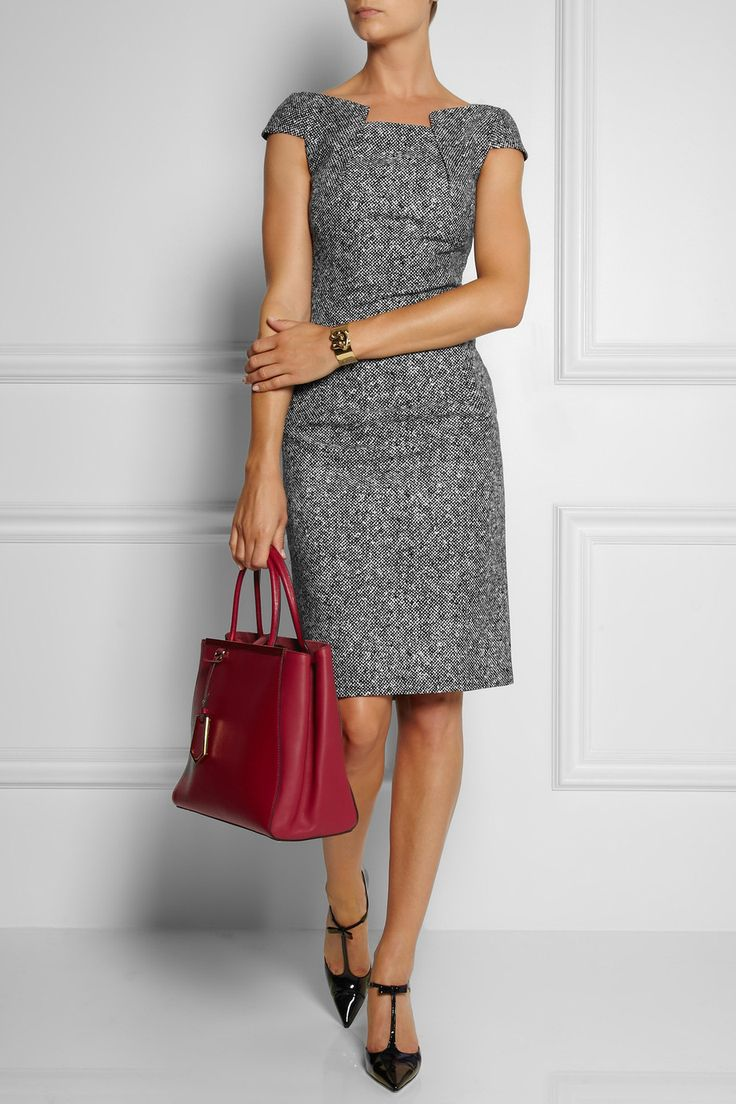 Michael Kors | Origami-folded wool-tweed dress | NET-A-PORTER.COM