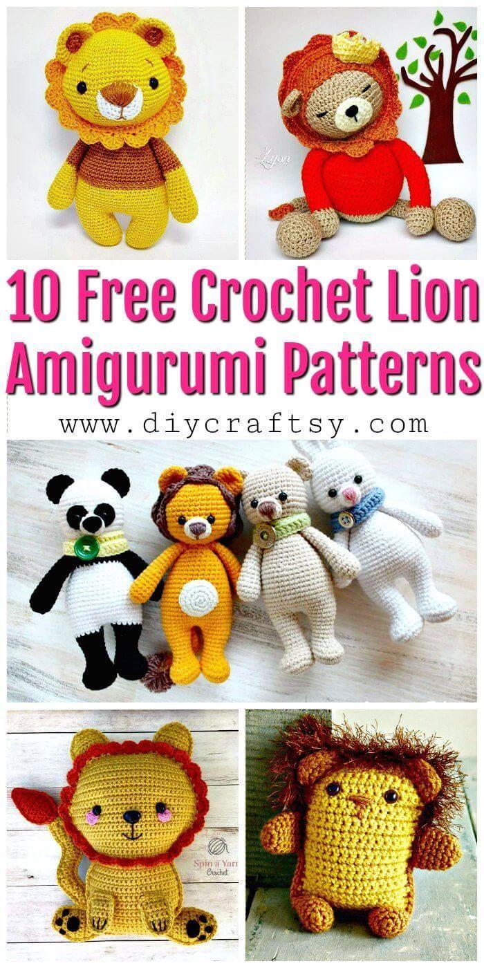 Leon Lion Amigurumi Free Crochet Pattern | 1400x700