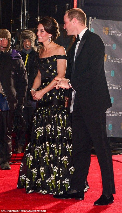 Catherine, Duchess of Cambridge and Prince William, Duke of Cambridge attend the 70th EE British Academy Film Awards (BAFTA) at the Royal Albert Hall on February 12, 2017 in London.