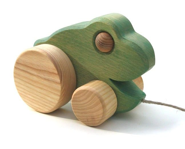Pull Along Toy Frog Handmade