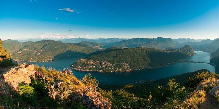Lo splendido Monte San Giorgio, patrimonio dell'Unesco, sito al confine tra Italia e Svizzera, Varese e Lugano. Oltre alla bellezza, racchiude uno scrigno di fossili antichi 230 milioni di anni