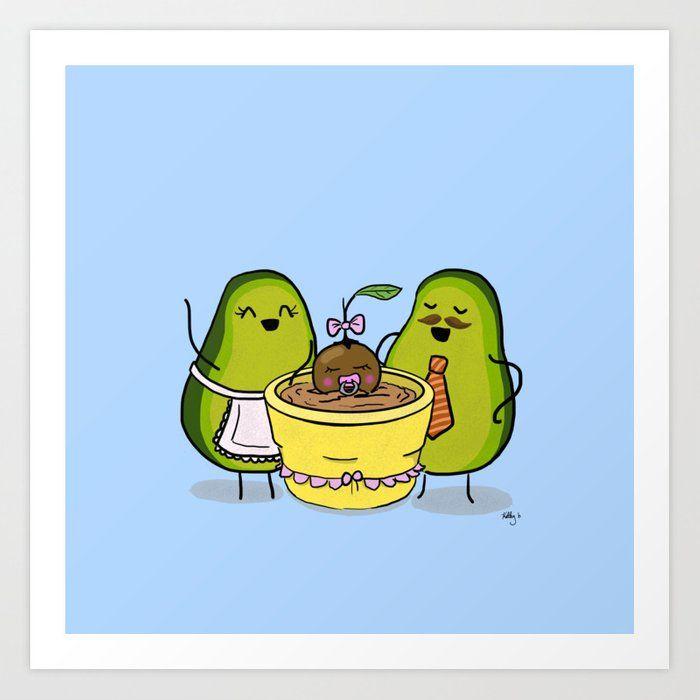 Proud Avocado Parents Avocado Cartoon Avocado Art Cute Avocado