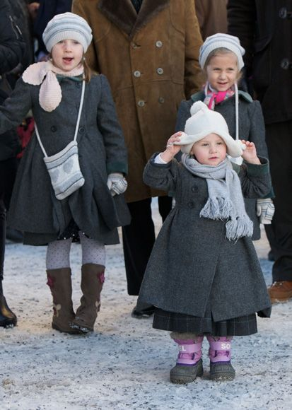 (L-R) Maud Angelica, Leah Isadora and Emma Tallulah are the children of Princess Martha Louise and Ari Behn of Norway