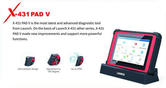Launch X431 PAD V is the most latest advanced diagnostic tool from