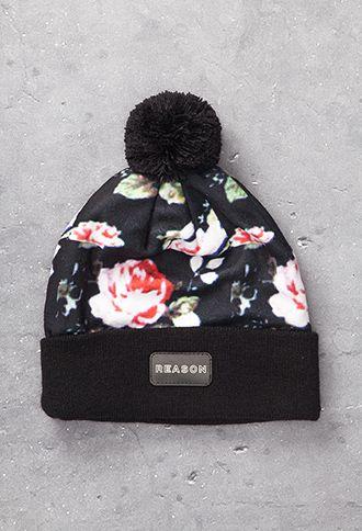Floral Print Beanie | 21 MEN