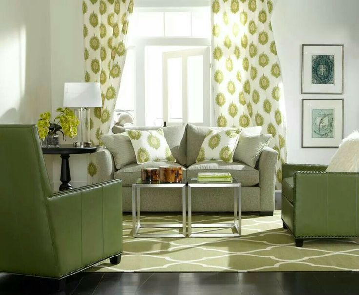 Green Room  Ethan Allen...THE GREEN IS PRETTY AND SO FRESH,
