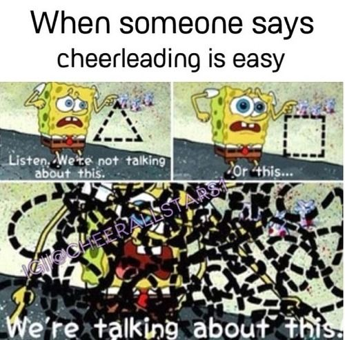 Love cheerleading❤️but this is funny                                                                                                                                                                                 More