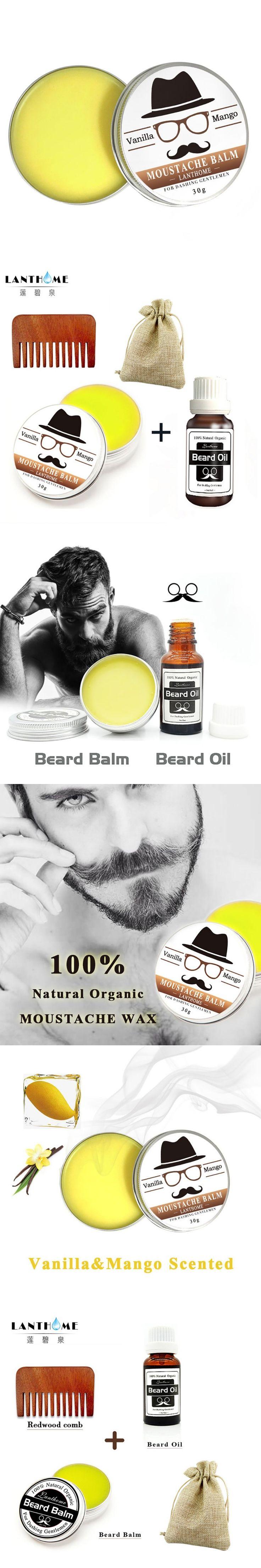Natural Beard Wax Balm Beard Oil Men Shape Beard Grooming Beard products Healthy Conditioner Moisturizing Cream Makeup